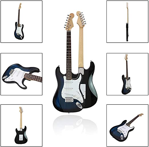 NEHARO Guitarra eléctrica 38 Pulgadas de 6 Cuerdas de Guitarra ...