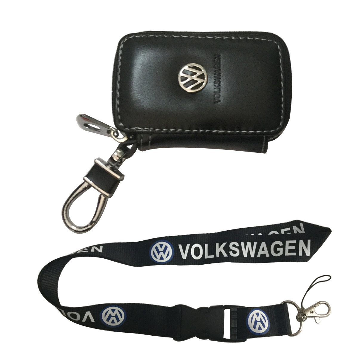 Nueva 1pcs Volkswagen llavero Lanyard Badge Holder + ...