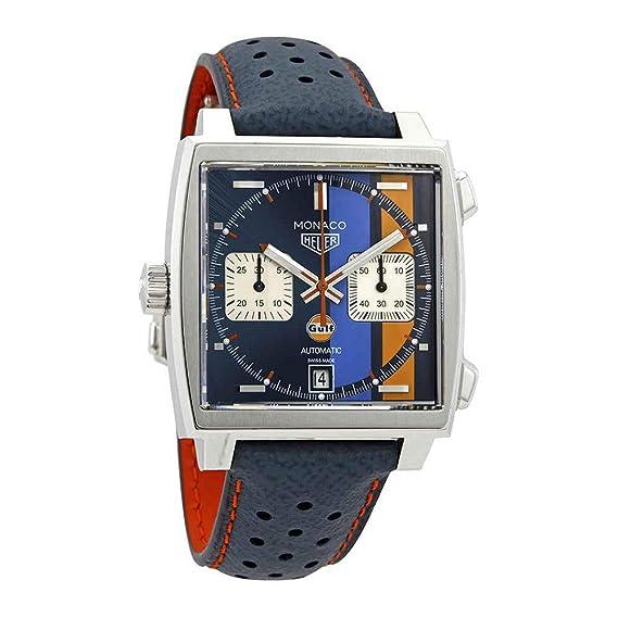 TAG Heuer - Reloj de hombre Monaco, edición especial Steve McQueen, CAW211R.FC6401: Amazon.es: Relojes