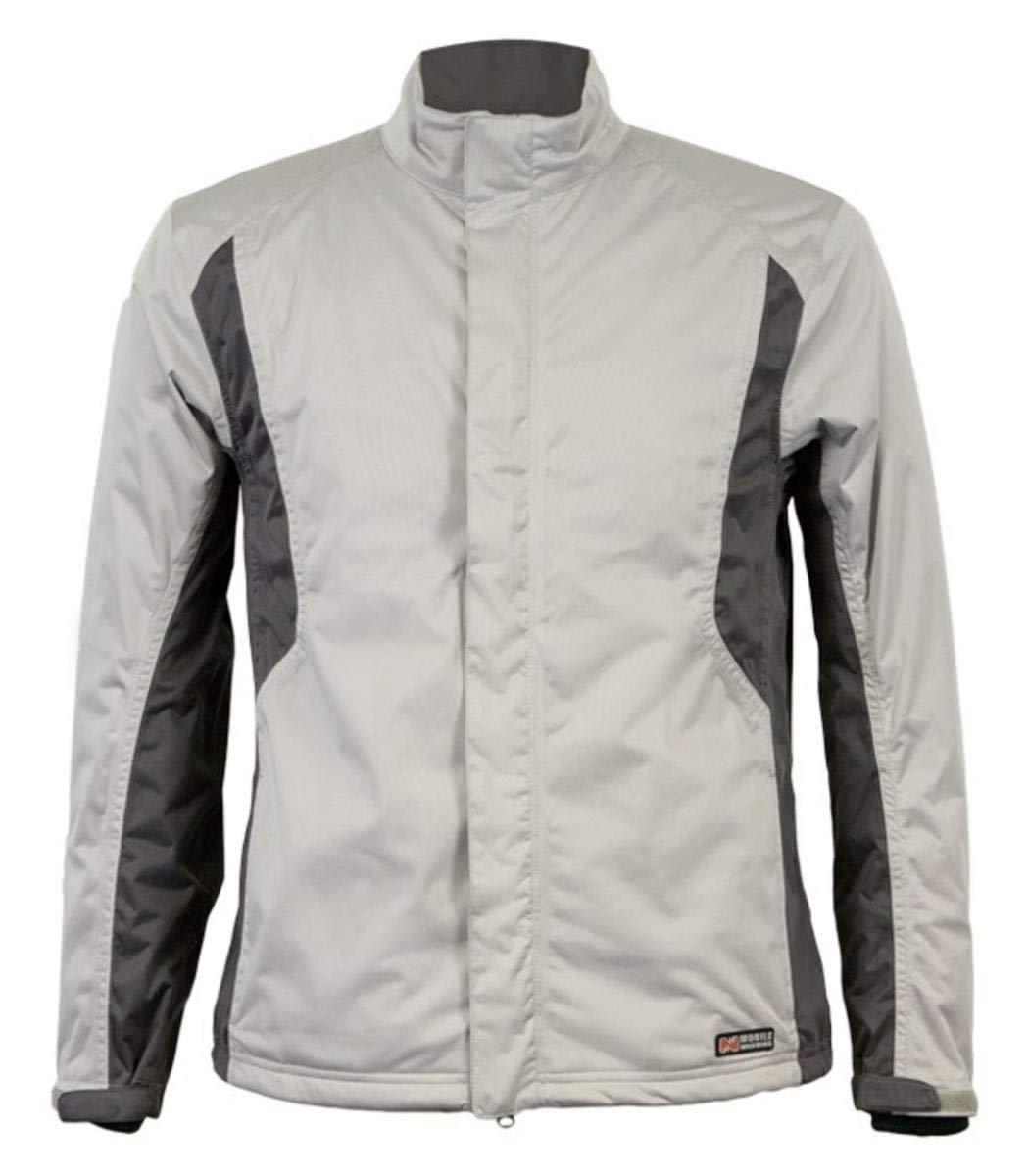 MOBILE WARMING Men's Balmore Heated Rain Jacket (Silver/Gunmetal, Small)