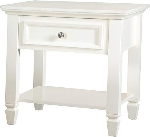 Coaster Home Furnishings Square 1-Drawer Lower Shelf White end Table