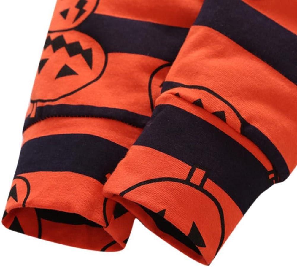 BOBORA Infant Baby Halloween Pumpkin Costume My 1st Halloween 4PCs Outfits Jumpsuit for Kids