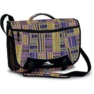 High Sierra Tank Messenger Bag, Basket Weave/Purple, 18x13.5x7-Inch
