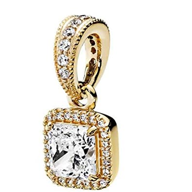 6f144ed34 Image Unavailable. Image not available for. Color: Pandora 350180CZ 14k  Yellow Gold Timeless Elegance Pendant