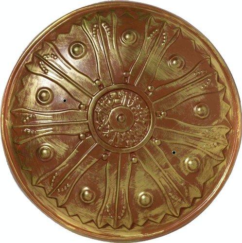 [Forum Novelties Roman Warrior Knight Spartan Costume Gold Sword Shield] (Roman God Costumes)