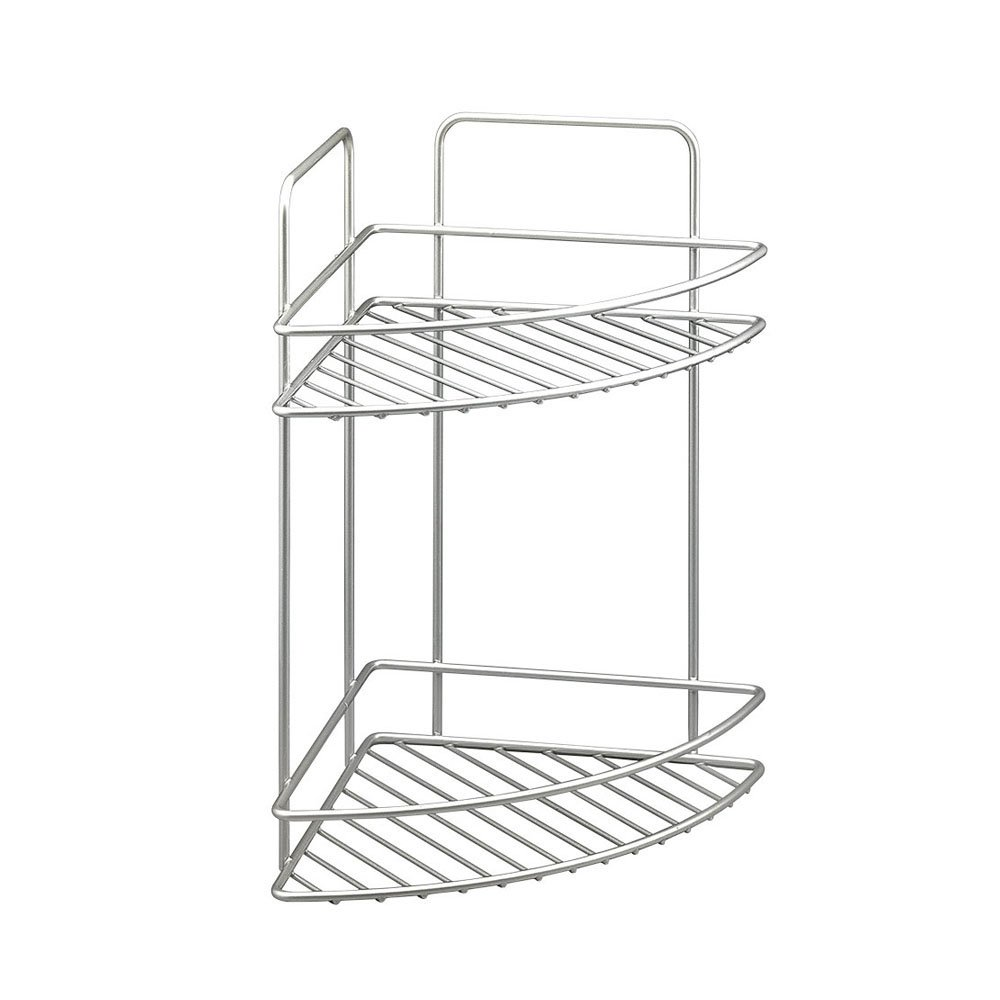 Metaltex Reflex 2-Tier Polytherm Coated Corner Bathroom Shelf