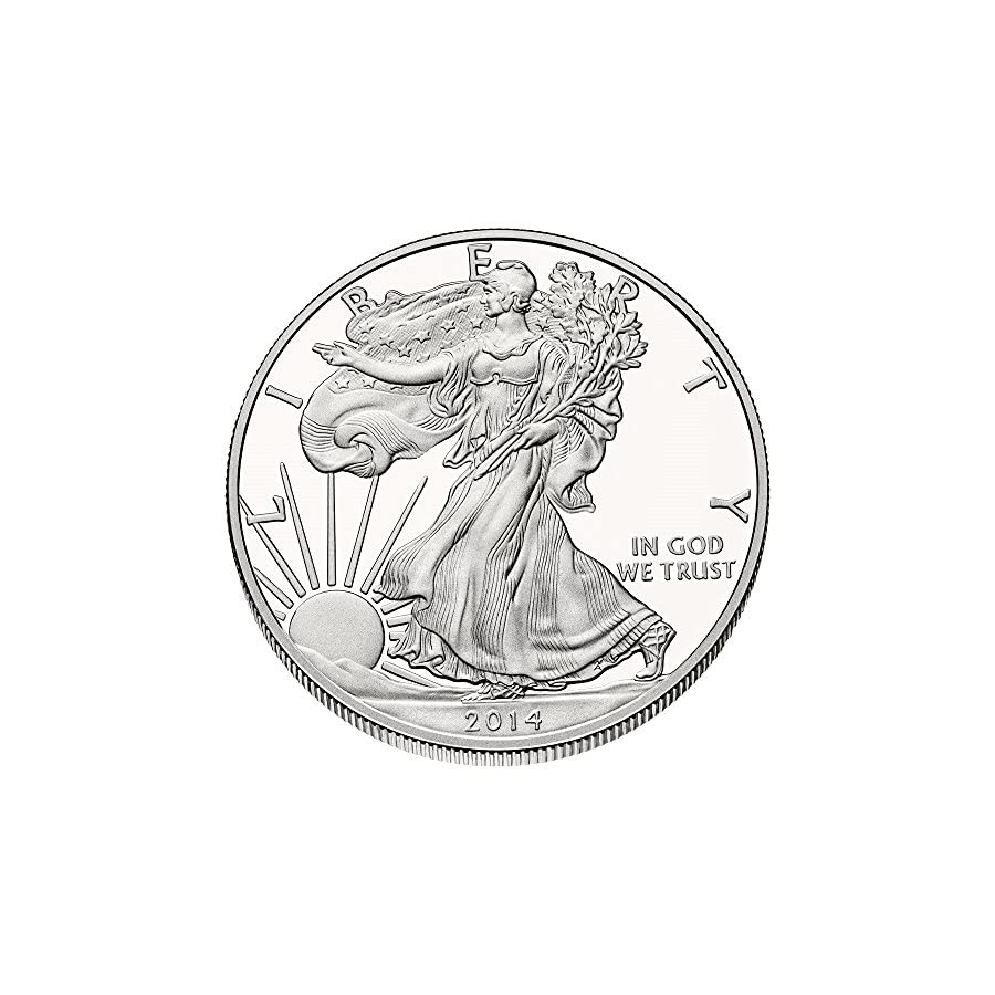 2014 American Silver Eagle .999 Fine Silver with Our Certificate of Authenticity Dollar Uncirculated US Mint