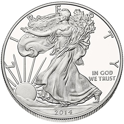 2014 - 1 Ounce American Silver Eagle .999 Fine Silver Dollar US Mint Uncirculated (Silver Coins Mint Us)