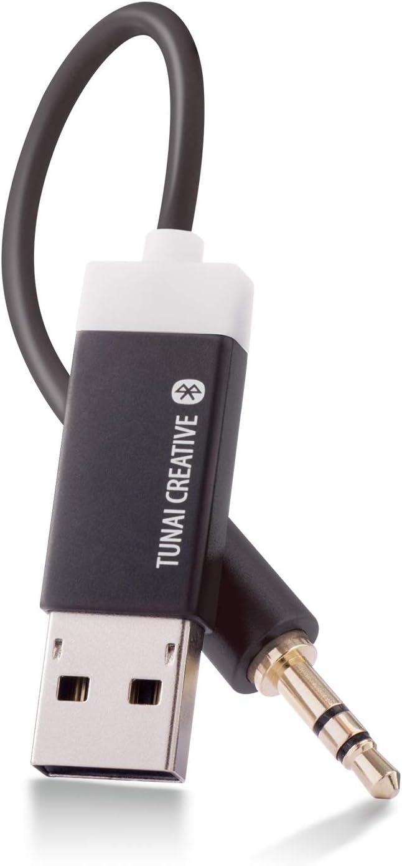 TUNAI Firefly: del Mundo más pequeño Bluetooth Receptor Audio Adaptador inalámbrico por transmisión de Audio para Coche y Sistema estéreo (Paquete Auto - Negro)