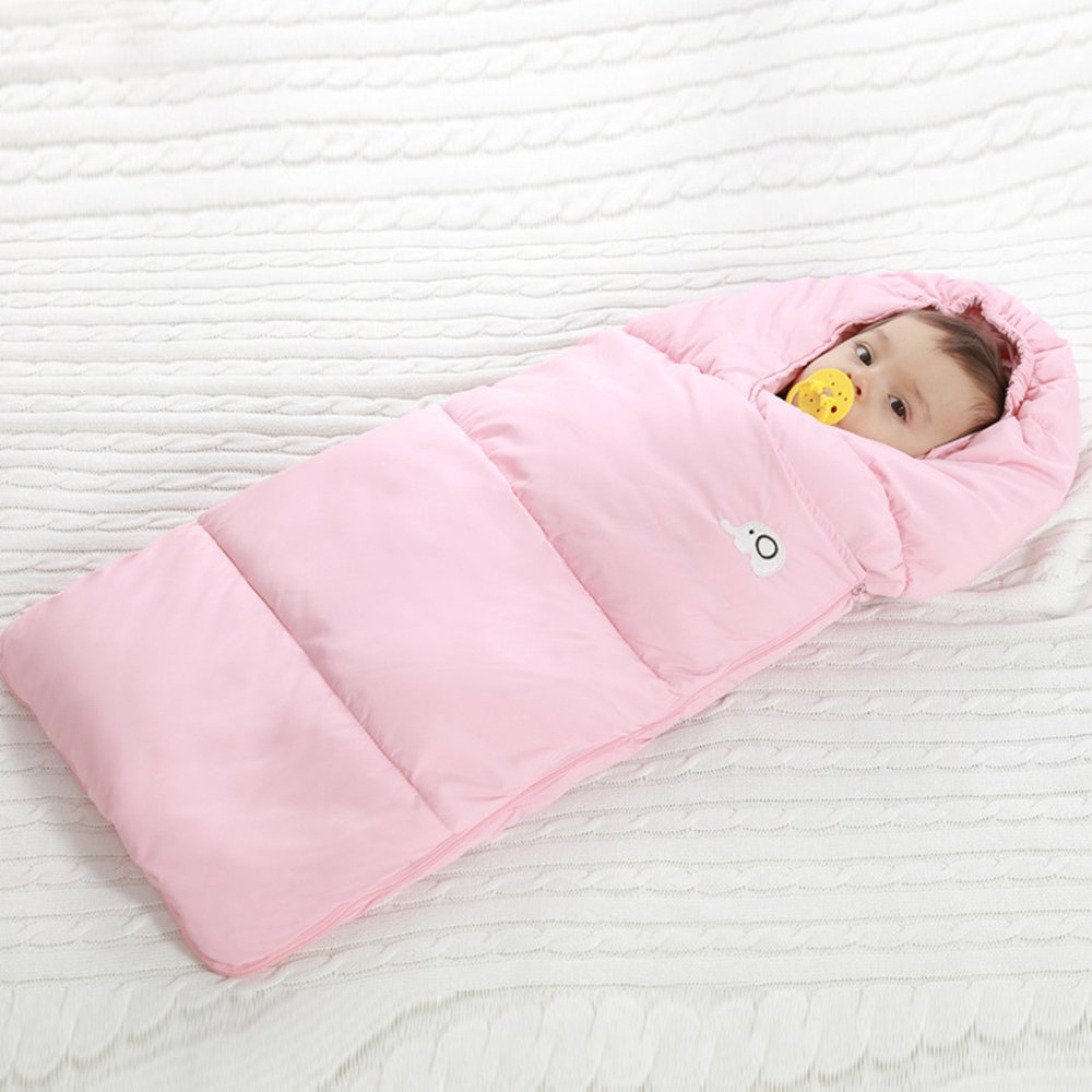 Baby Sleeping Bag Swaddling Blankets Autumn Winter Baby Stroller Baby Sleep  Sack Zipper Design-100%