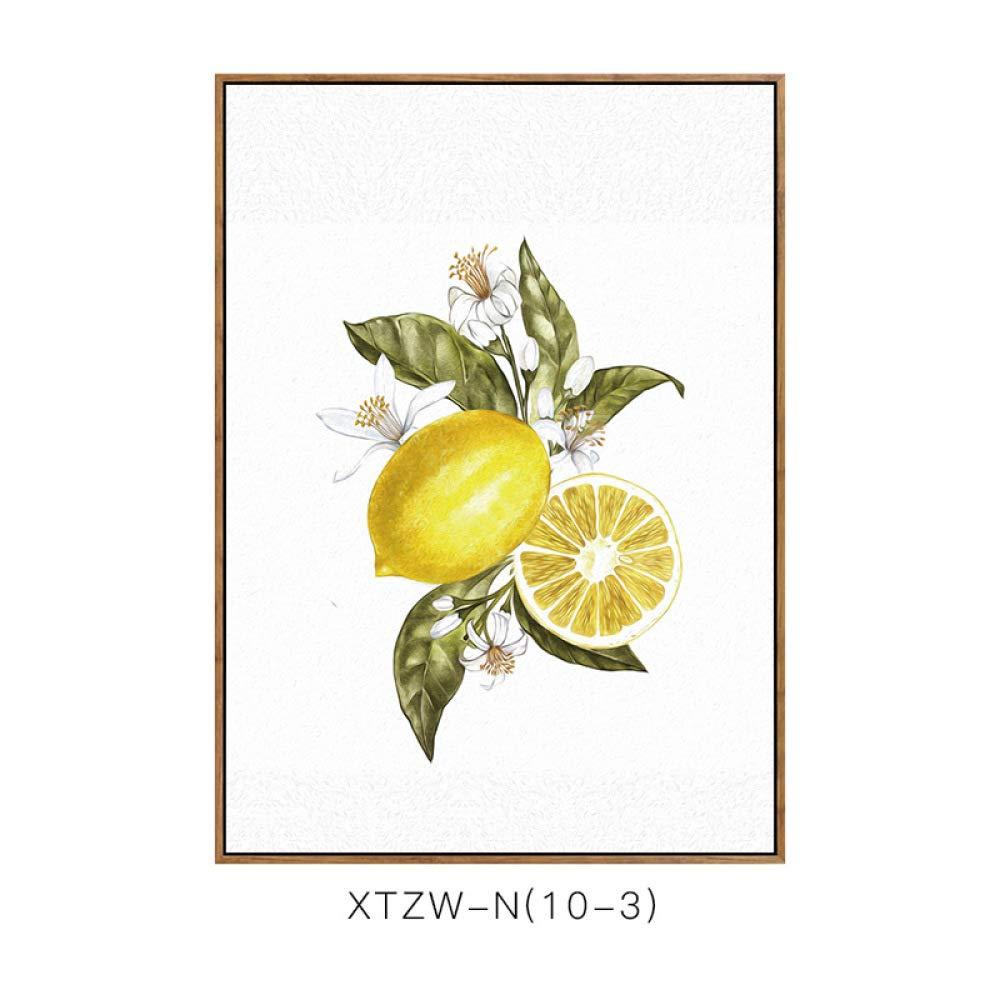 CWJ Pintura Decorativa nórdica, Sala de Estar, Comedor, Cocina, Dos Cuadros, Fruta, Granada, limón, pequeño, Fresco, sofá, Fondo, Pared,H,60  80