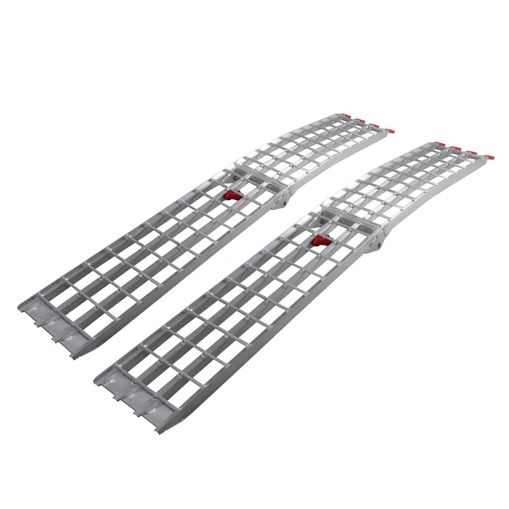 7.5' HD 4-Beam Loading Ramps 1500 lb Heavy Duty Aluminum Arched for ATV UTV Motorcycle Ramp (Pack of 2)