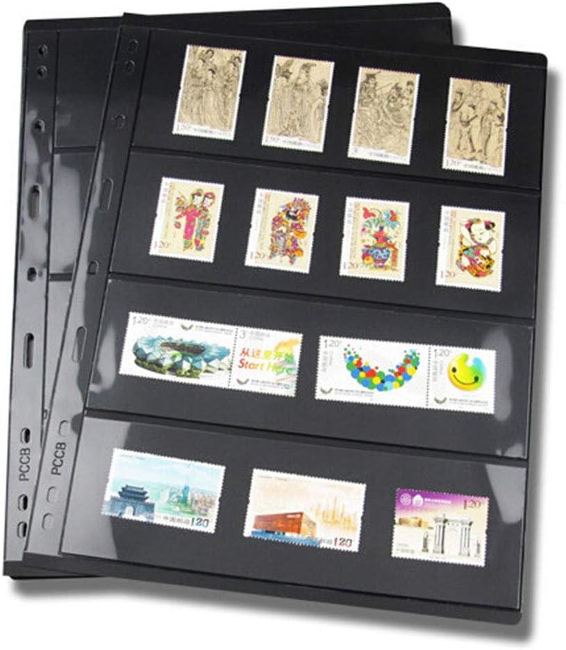 Voir image billets photos et tous types de collections jaquette non incluse. f Lot de 10 feuilles intercalaires en PVC pour timbres Pas de z/éro