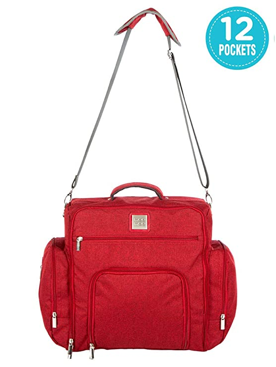 Mee Mee Stylish Multi-Function Backpack-Style Diaper Bag, Maroon