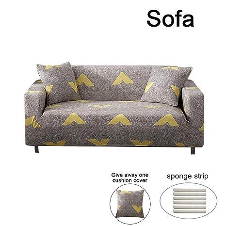 Funda de Sofá elástica chaise longue pompones, con Brazo Derecho Sofá tres plazas de 2 plazas Sofa Saver 3 plazas impermeable Funda para sofás ...