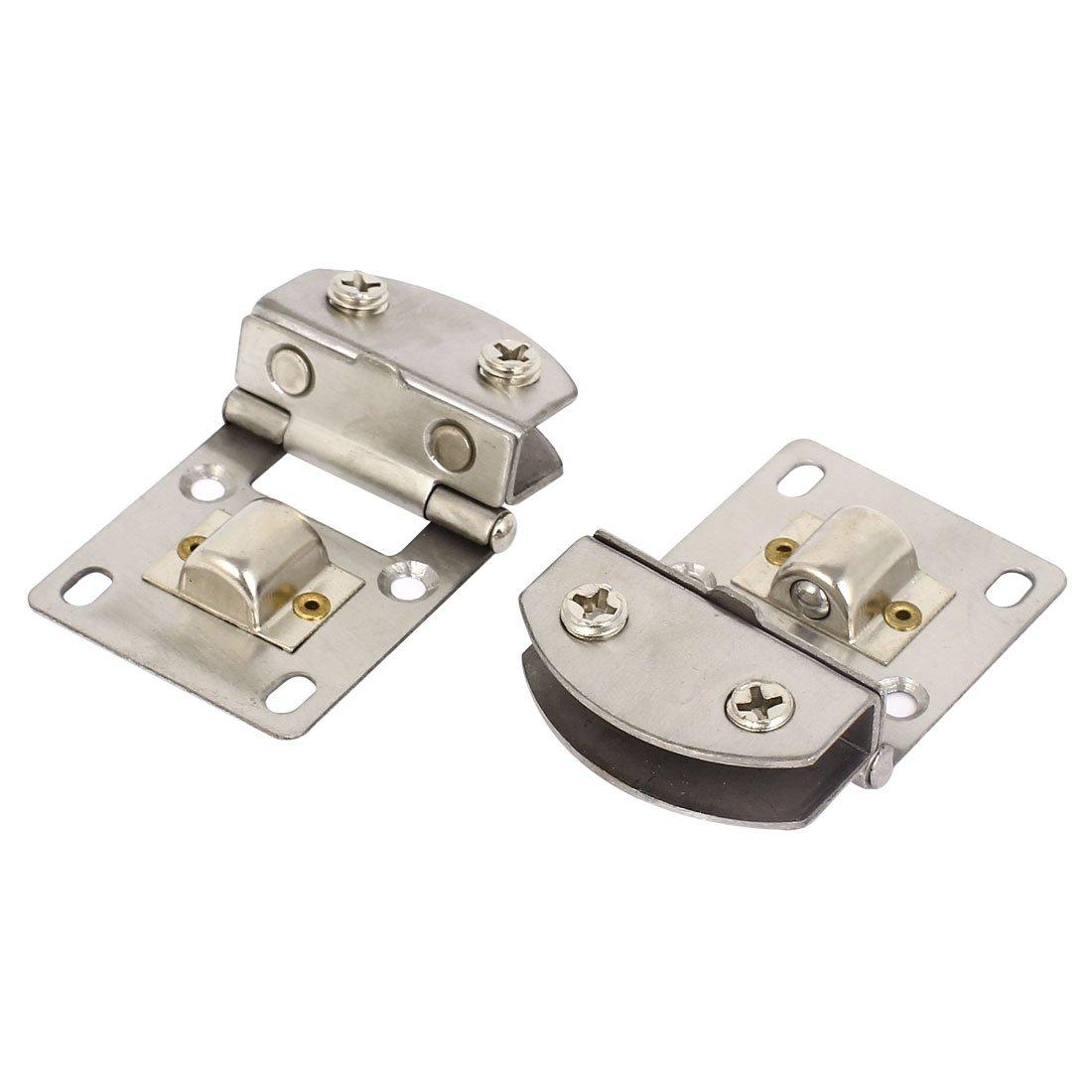 Puerta de cristal 8-10mm abrazadera de acero inoxidable bisagras de grosor carcasa rí gida 2 piezas Sourcingmap a15040100ux0071
