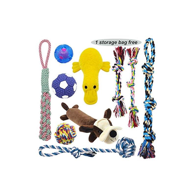 dog supplies online mlcini dog toys interactive rope dog toys large dog toys cute plush dog squeaky toys iq treat balls,dog toy pack dog toys for small medium large dogs dog gifts 10 set with bonus storage bag