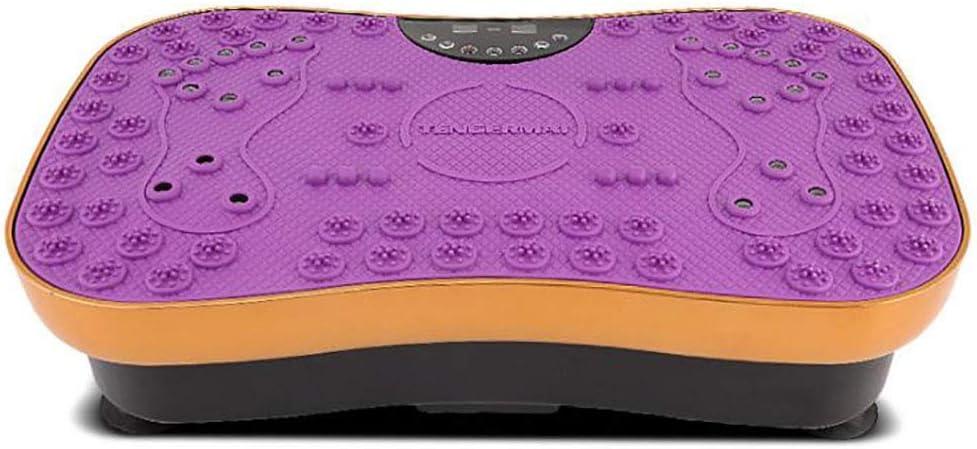 HYYQG 專業健身振動訓練器在健身房,家庭和辦公室減掉脂肪和身體爽膚的99個等級(最大負荷150KG), 紫の