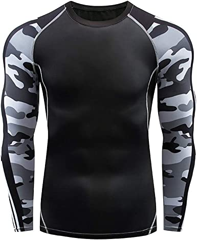 Tee Shirt Compression Homme Manche Longue, Baselayer Maillot