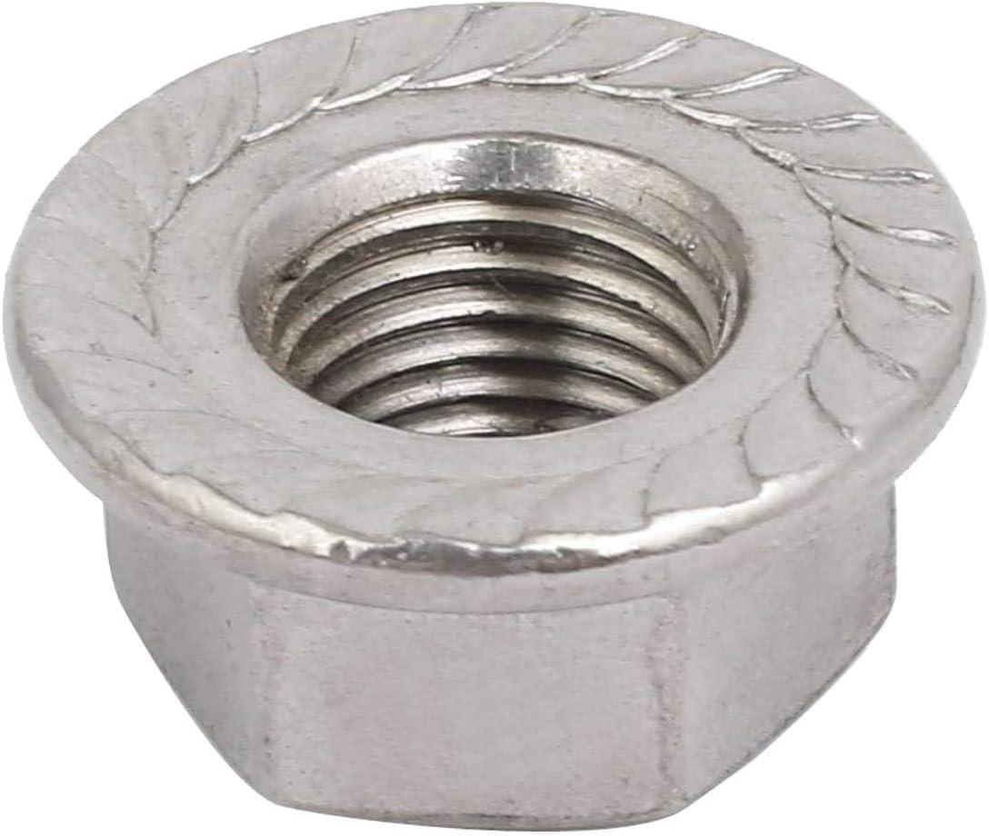 KANGIRU 12 Piezas M12 x 1,25 mm Paso M/étrico Fino 304 Tuercas de Rosca de Acero Inoxidable Tuerca de Brida Hexagonal