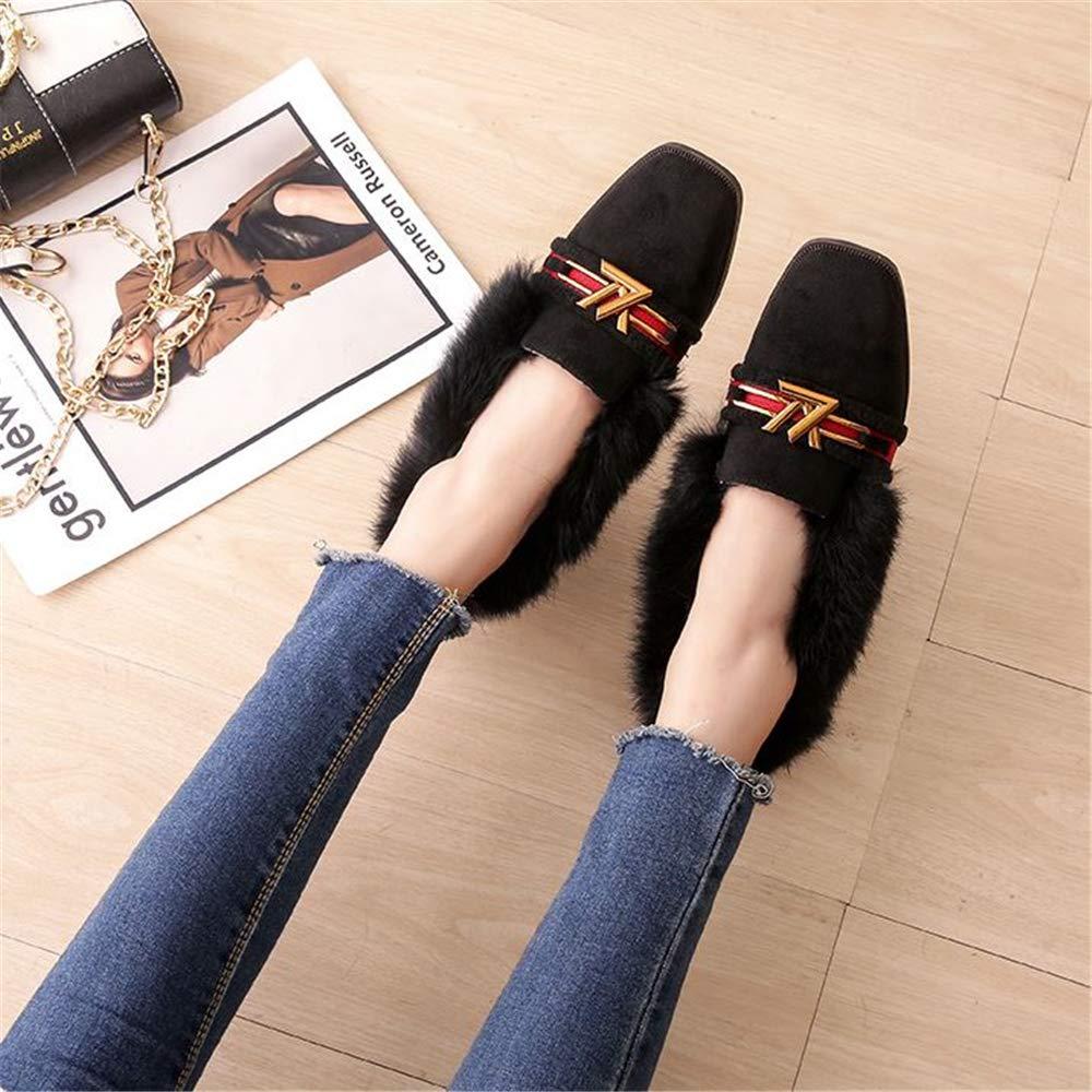 FLourishing Women Comfortable Driving Shoes Moccasins Ladies Winter Indoor Outdoor Comfort Loafer