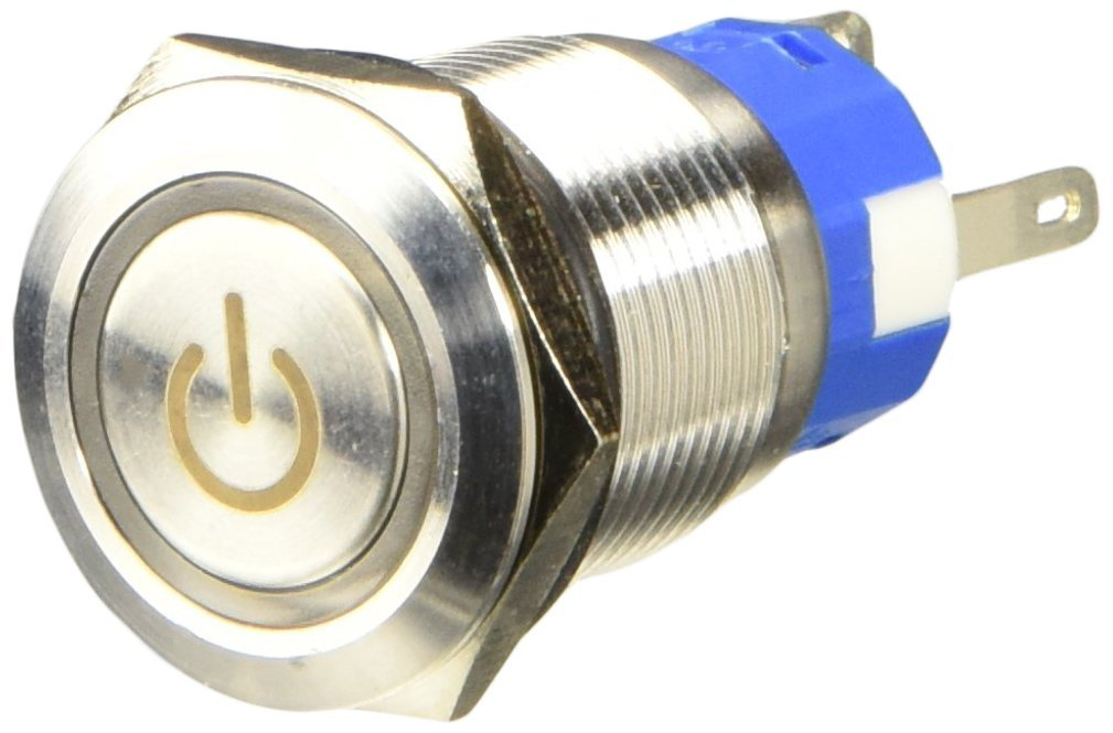 Ltd // Uxcell a14052000ux0679 Uxcell 12V LED Lamp Latching Stainless Steel Pushbutton Switch 19mm Dragonmarts Co