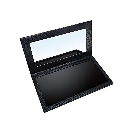 Allwon Magnetic Makeup Palette Professional Empty Makeup Palette with Mirror for Eyeshadow Lipstick Blush Powder (Black)