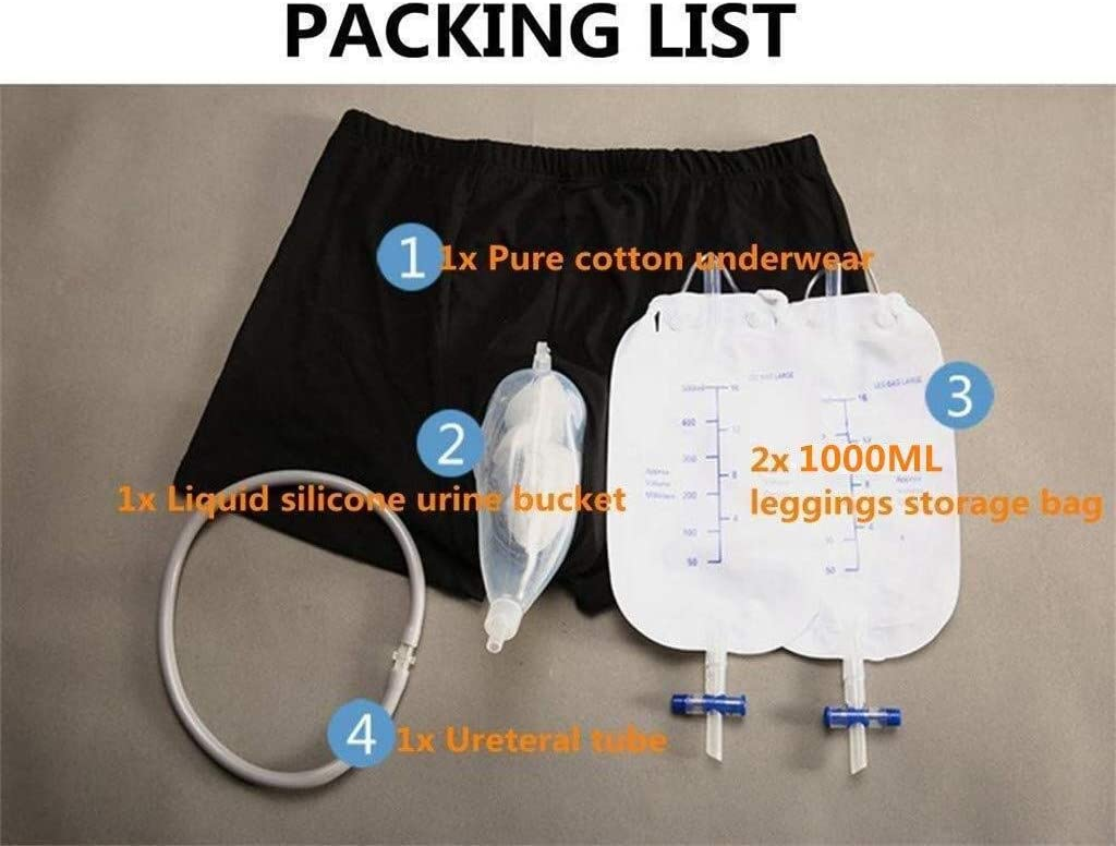 DHMHJH Urinary Incontinence Reusable Urine Collection Underwear Size : XL Urinal Patient Bed Catheter After Elderly Surgery Male Urinary Incontinence Collector