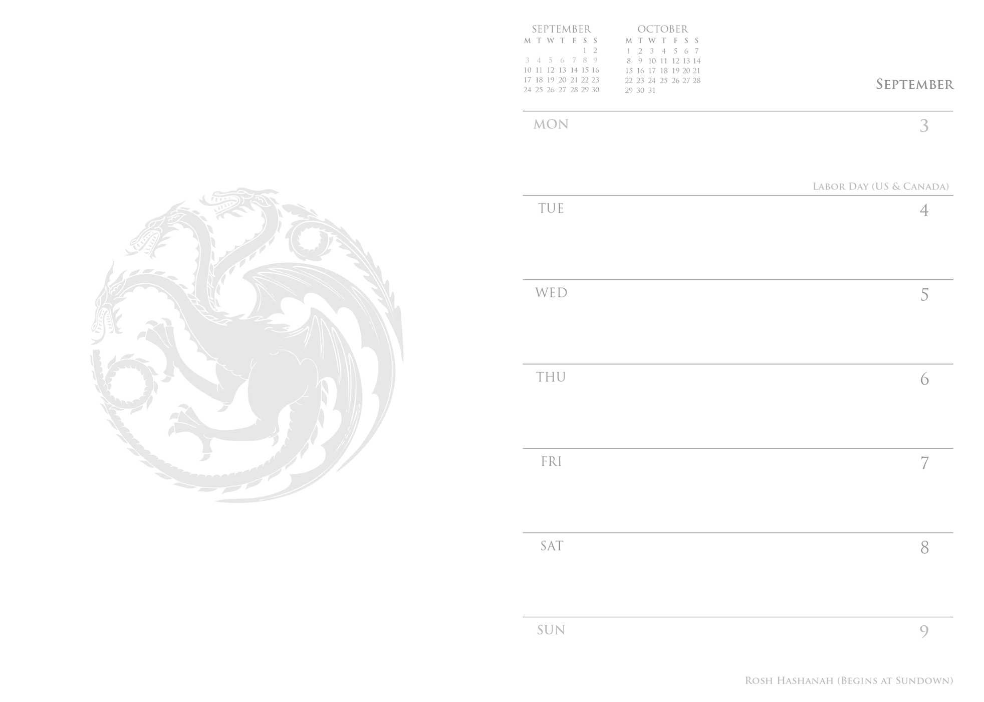 Game of Thrones 2018 16 Month Executive Engagement Calendar: HBO