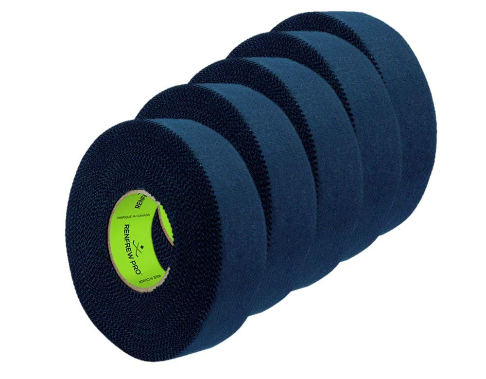 5X Renfrew Schlä gertape Pro Balde Cloth Tape schwarz 24mm f. Eishockey 25m Renfrew pro