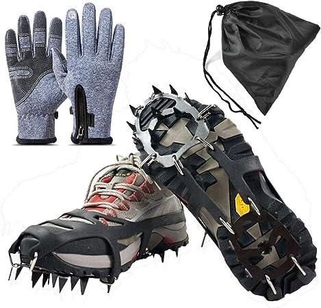 Agarres de Hielo para Zapatos y Botas, 14 Dientes, Acero ...