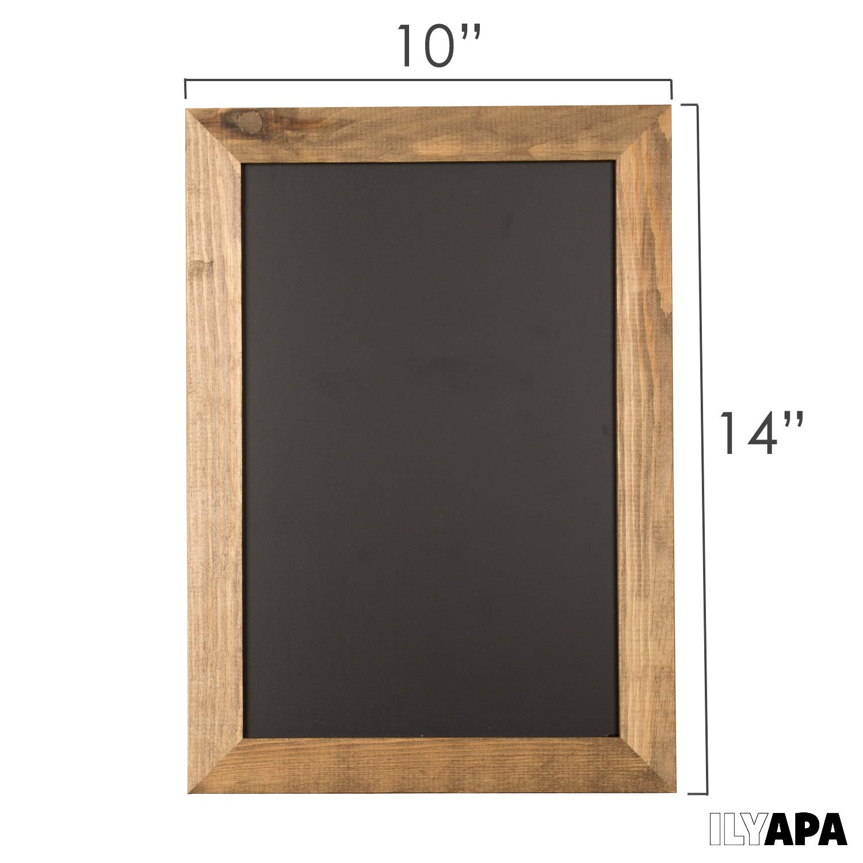 Ilyapa Rustic Wooden Magnetic Kitchen Chalkboard Sign Restaurant /& Home Wedding 20x30 Inch Brown Framed Hanging Chalk Board for Farmhouse Decor