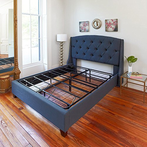 Classic Brands Hercules Heavy-Duty 14-Inch Platform Metal Bed Frame | Mattress Foundation, Queen (People Metal)