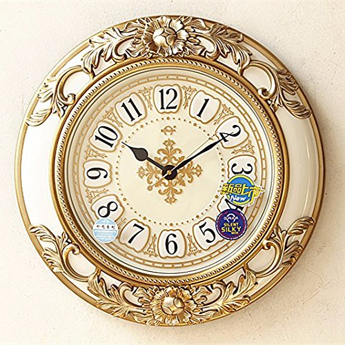 30CM Vintage European Style Wooden Wall Clock - 6