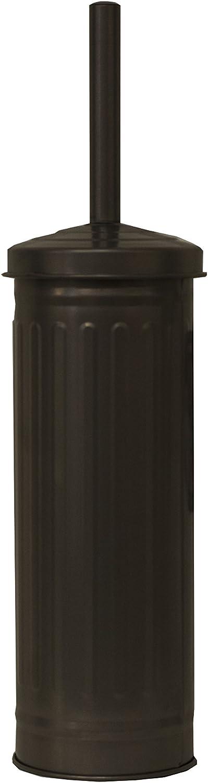 Elaine Karen Deluxe Retro Galvanized Steel Toilet Brush - Black