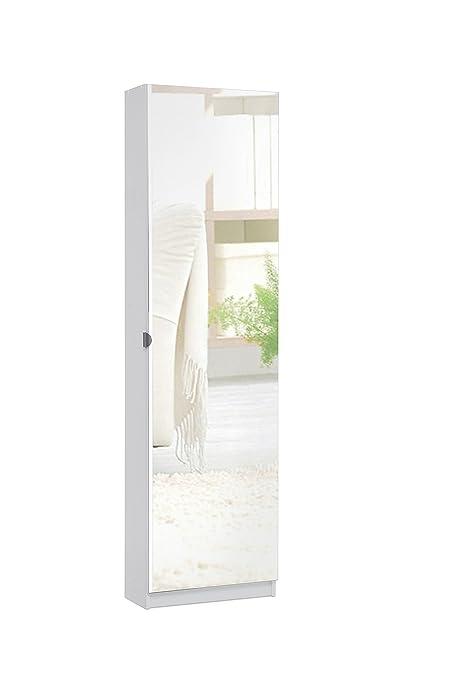 Spiegelschuhschrank Schuhschrank Mit Spiegeltur B H T 50 X 180 X