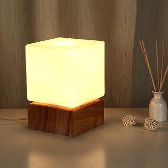 ZXW Kreative Holz Schlafzimmer Lampen Warmes Holz Nachttischlampe  Minimalist Wohnzimmer Arbeitszimmer Kinderzimmer Augen LED