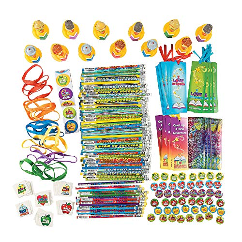 Fun Express - I Love to Read Assortment - Stationery - Awards - Misc Awards - 250 Pieces -