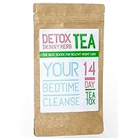 14 Days Bedtime Cleanse Tea : Detox Skinny Herb Tea - Effective Detox Tea, Body...