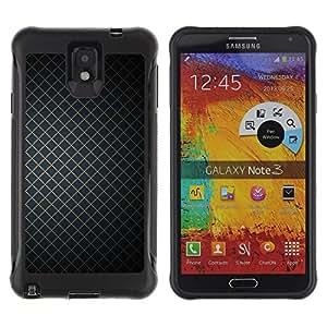 All-Round híbrido Heavy Duty de goma duro caso cubierta protectora Accesorio Generación-II BY RAYDREAMMM - Samsung Galaxy Note 3 - Wallpaper Geometrical Square Simple Design