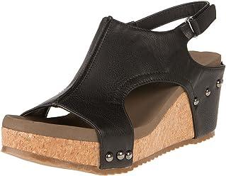 e68cadd9b73f Corkys Footwear Women s Mulan Wedge Sandal Shoe
