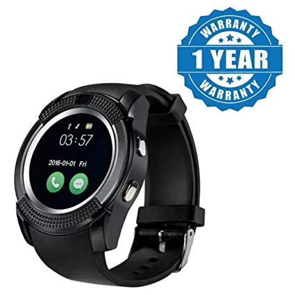 Captcha Bluetooth V8 Smartwatch with Sim Card Slot,Activity Tracker and  Camera Features