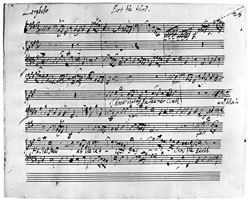 Handel Music Sheet NI Know That My Redeemer Liveth From The Autograph 18Th Century Manuscript Of George Frederick HandleS The Messiah In The Royal Music Library Poster Print by (18 ()