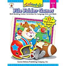 Colorful File Folder Games, Grade 1: Skill-Building Center Activities for Language Arts and Math