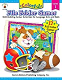 Colorful File Folder Games, Grade 1: Skill-Building Center Activities for Language Arts and Math (Colorful Game Book Series)