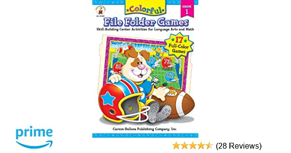 Amazon colorful file folder games grade 1 skill building amazon colorful file folder games grade 1 skill building center activities for language arts and math colorful game book series 9781594410895 fandeluxe Gallery