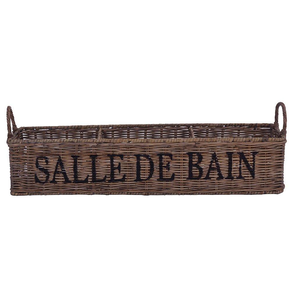 Vintage-Line Aufbewahrungsbox Salle de Bain Korb Deko Badezimmeraccessoire