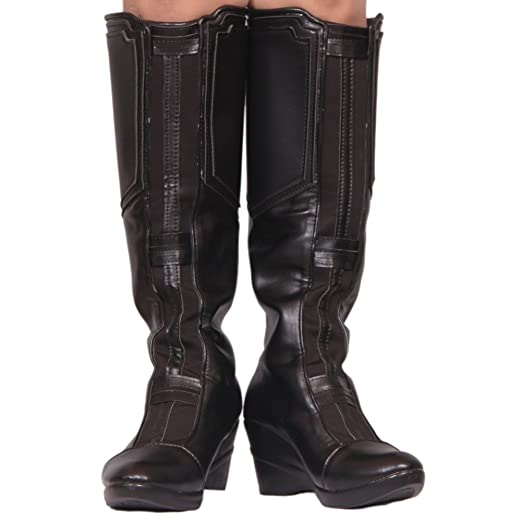 85c0d342a500 Amazon.com: Black Widow Boots Hot Movie Cosplay PU Leather Shoes ...