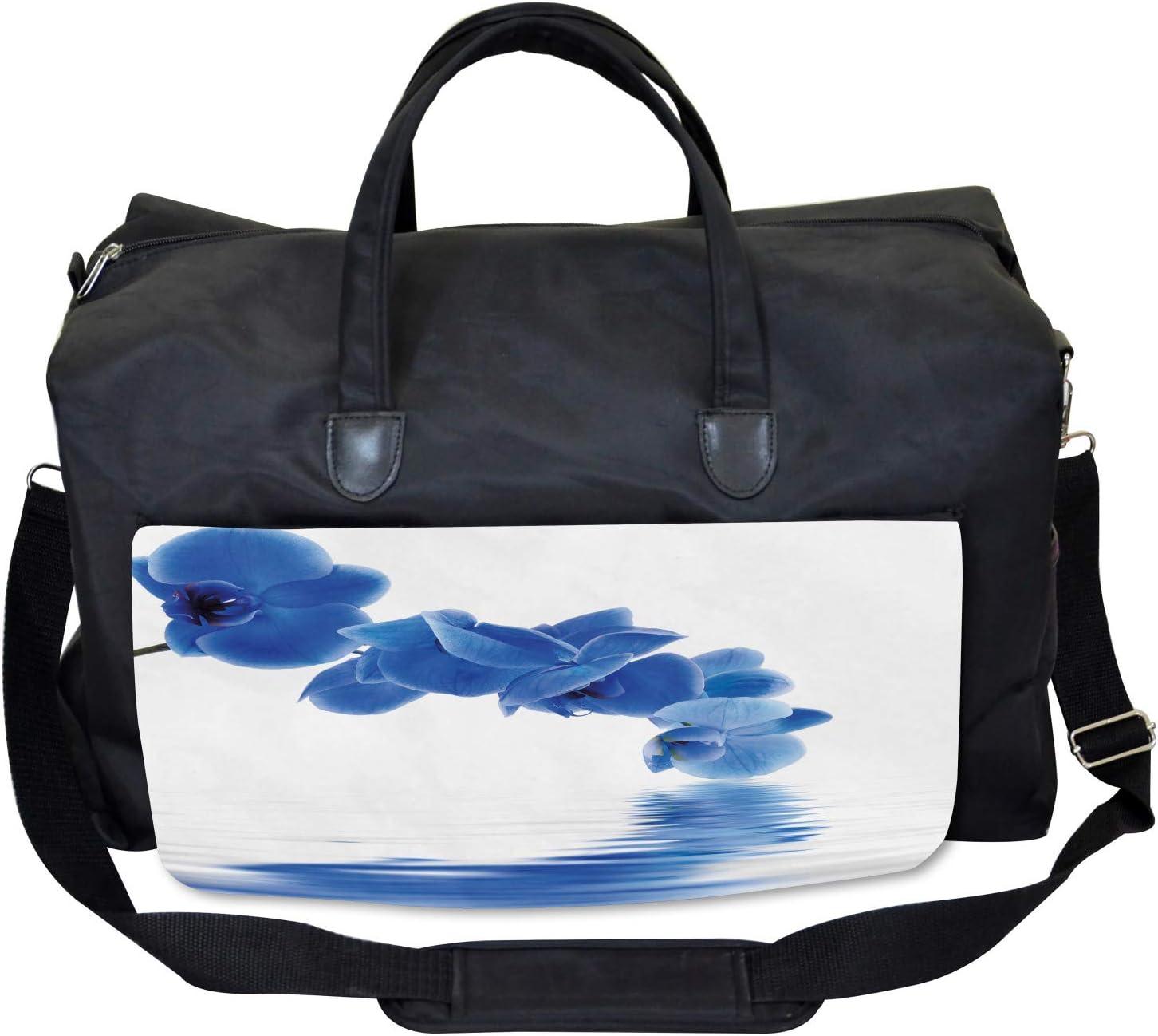 Orchid Zen Bridal Large Weekender Carry-on Ambesonne Blue Gym Bag