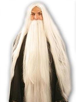 Pelucas mujeres largo blanco Alise carnaval Navidad carnaval Halloween Partido 80s con barba